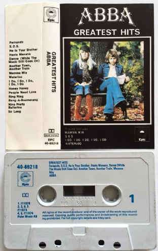 Abba - Greatest Hits (Cassette Album) (VG/VG+)